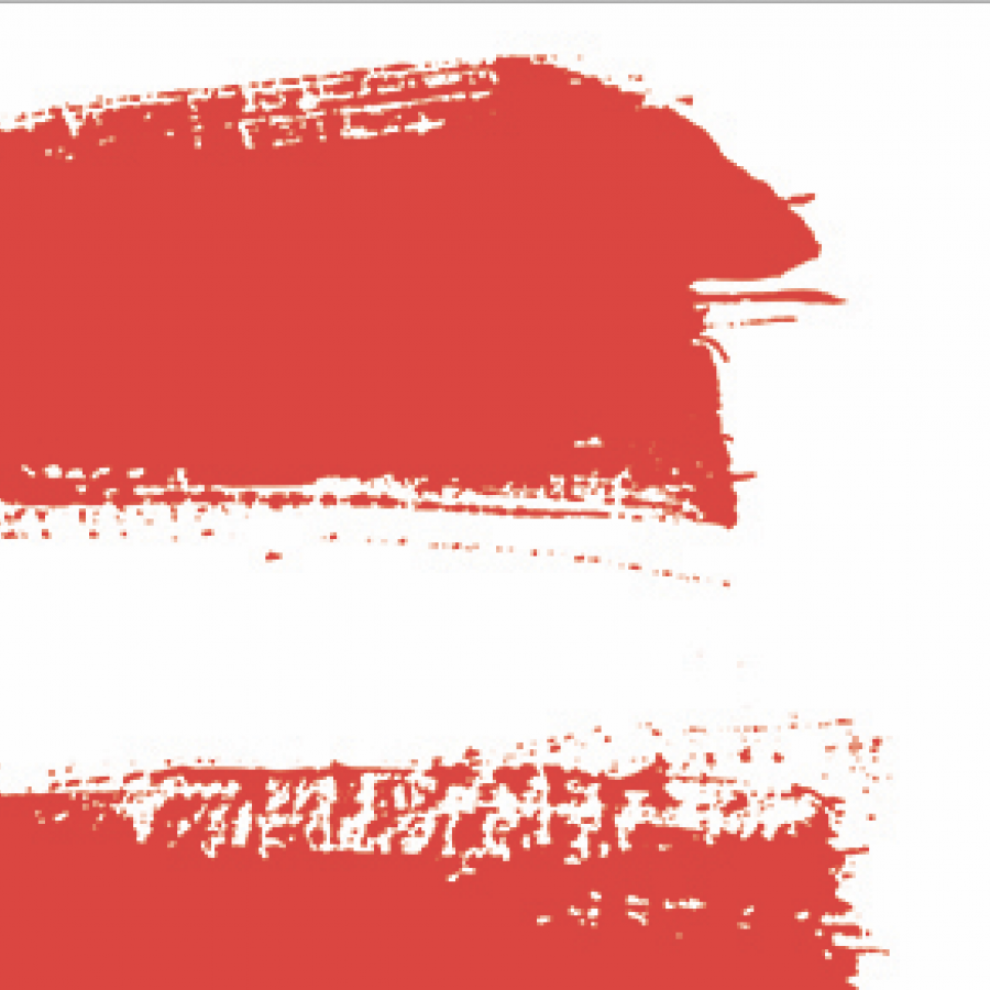 two-red-brush-strokes