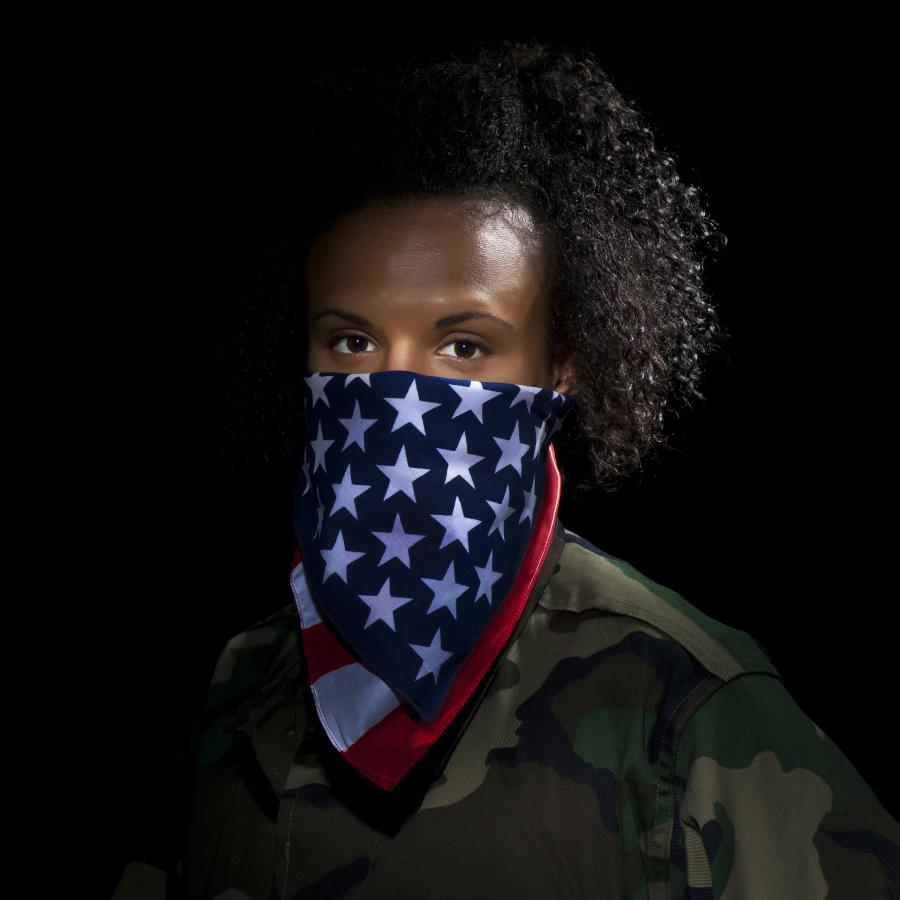 african-american-male-with-USflag-face-covering